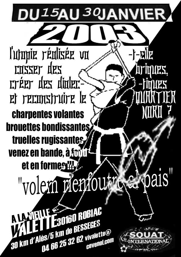 tract du chantier international de janvier 2003
