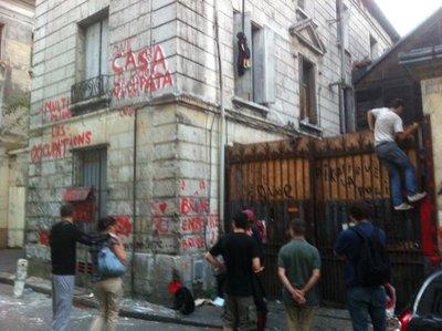 2 septembre 2011, squat situé rue du Lieu de Santé
